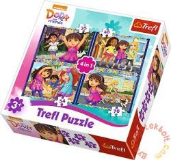 Trefl Dóra és barátai 4 az 1-ben puzzle (34265)