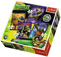 Trefl Tini nindzsa teknőcök 4 az 1-ben puzzle (34266)