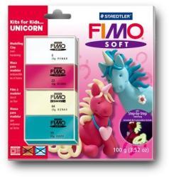FIMO Soft Kids égethető gyurmakészlet - Egyszarvú 4x25g