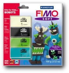FIMO Soft Kids égethető gyurmakészlet - Robot 4x25g