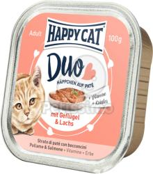 Happy Cat Duo Poultry & Salmon 12x100g