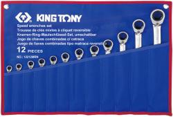 KING TONY Racsnis csillag-villáskulcs készlet 12db (12212MRN)