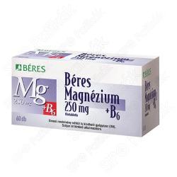 BÉRES Magnézium 250mg+B6 tabletta - 60 db