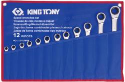 KING TONY Racsnis csillag-villáskulcs készlet 12db (12112MRN)