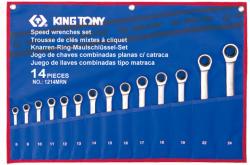 KING TONY Racsnis csillag-villáskulcs készlet 14db (12114MRN)