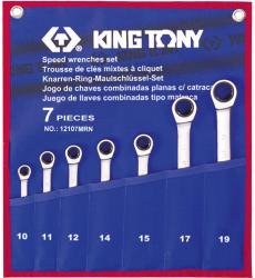 KING TONY Racsnis csillag-villáskulcs készlet 7db (12107MRN)