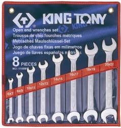 KING TONY Villáskulcs készlet 8db 6-22mm (1108MR)