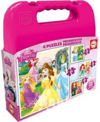 Educa Disney Hercegnők 4 az 1-ben puzzle táskában (16508)