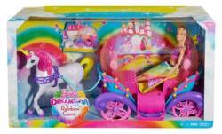 Mattel Barbie - Szivárványhercegnő hintóval (DPY38)