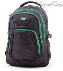 Adventurer fekete-zöld hátizsák (AT567)