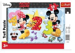 Trefl Mickey egér és barátai 15 db-os keretes puzzle (31241)