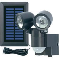 GEV Napelemes LED-es fényszóró mozgásérzékelővel, duó, fekete, GEV 000858