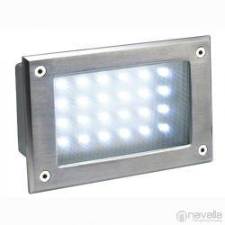 SLV BRICK LED 24 kültéri fali süllyesztett lámpa, inox 229121