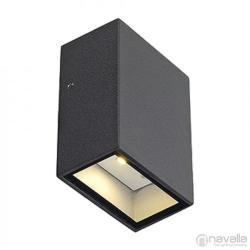 SLV QUAD 1 kültéri fali lámpa, antracit 232465