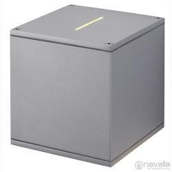SLV BIG THEO BEAM kültéri fali lámpa, ezüstszürke 229604