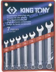 KING TONY Csillag-villáskulcs készlet 7db 10-19mm (1207MR)
