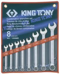 KING TONY Csillag-villáskulcs készlet 8db 10-22mm (1208MR)