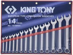 KING TONY Csillag-villáskulcs készlet 14db 10-32mm (1214MR01)