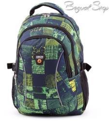 Simon kék-zöld mintás hátizsák (KW947B)