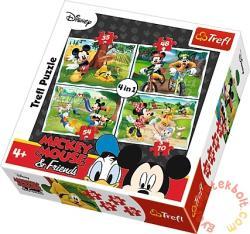 Trefl Mickey és barátai: Móka a parkban 4 az 1-ben puzzle (34261)
