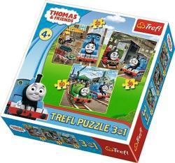 Trefl Thomas és barátai 3 az 1-ben puzzle (34821)