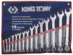 KING TONY Csillag-villáskulcs készlet 15db 6-32mm (1215MR02)
