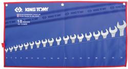 KING TONY Csillag-villáskulcs készlet 18db 6-24mm (1218MRN)