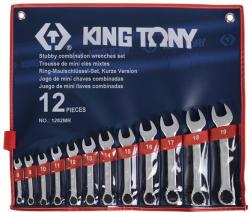 KING TONY Csillag-villáskulcs készlet 12db 8-19mm (1282MR)