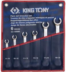 KING TONY Fékcsőkulcs készlet 6db 8-22mm (1306MR)