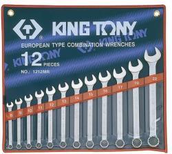 KING TONY Csillag-villáskulcs készlet 12db 8-22mm (1212MR)