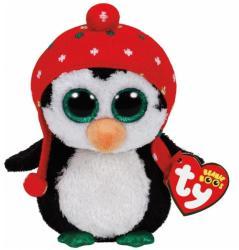 TY Inc Beanie Boos - Freeze, a pingvin kötött sapkával 24cm (TY36950)
