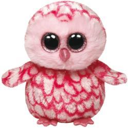 Ty Beanie Boos - Pinky, a rózsaszín gyöngybagoly 24cm (TY36994)