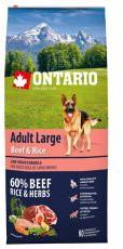 ONTARIO Adult Large - Beef & Rice 12kg