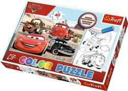 Trefl Color Puzzle - Verdák színezhető kétoldalas puzzle (36514)