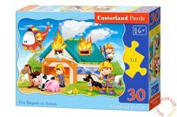Castorland Tűzoltók akcióban 30 db-os (B-03525)