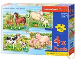 Castorland Állatok és kicsinyeik 4 az 1-ben puzzle (B-04416)