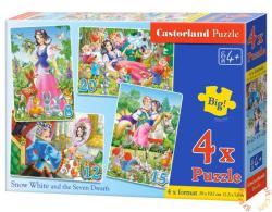 Castorland Hófehérke és a hét törpe 4 az 1-ben puzzle (B-04423)