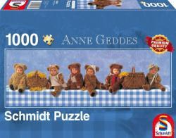 Schmidt Spiele Panoráma Puzzle - Anne Geddes: Teddybaren Picknick 1000 db-os (59360)