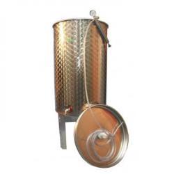 ENOITALIA Cisterna Inox Cu Capac Flotant 200 L