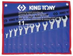 KING TONY Racsnis csillag-villáskulcs készlet 8-19mm (14111MRN)