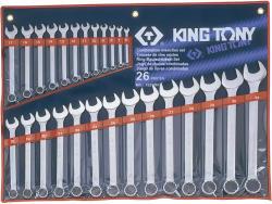 KING TONY Csillag-villáskulcs készlet 26db 6-32mm (1226MR)