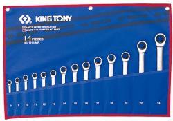 KING TONY Racsnis csillag-villáskulcs készlet 14db 8-24mm (12114MR)