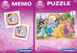 Clementoni Disney Hercegnők 60 db-os puzzle és memóriajáték