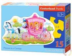 Castorland Hercegnő a lovaskocsiban 15 db-os sziluett puzzle (B-015122)