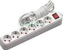 KUPER 6 Plug 5m Switch (KP-6PK-5M-WH)