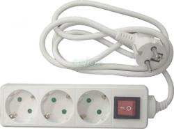 KUPER 3 Plug 3m Switch (KP-3PK-3M-WH)