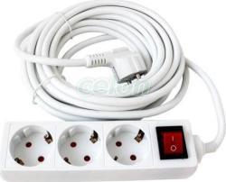 KUPER 3 Plug 5m Switch (KP-3PK-5M-WH)