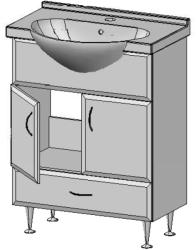 Vertex Romeo 65 alsószekrény mosdóval