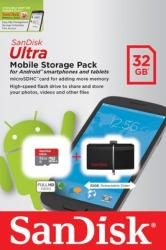 SanDisk Ultra Dual 32GB 3.0 +MicroSDHC 32GB UHS-I SDDD2-032G-G46USD