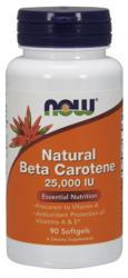 NOW Natural Beta Carotene 25000 IU kapszula - 90 db